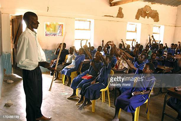 Children attending class at a local school in Malawi November 13 2005