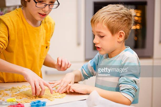 Children baking cookie cutters