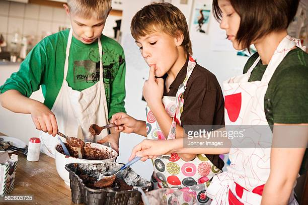 Children baking