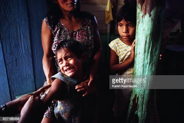 Children Being Vaccinated in Brazil