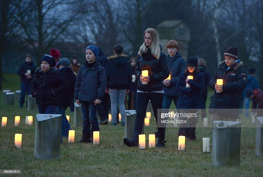 CZECH-POLAND-HISTORY-JEWS-AUSCHWITZ-ANNIVERSARY : News Photo
