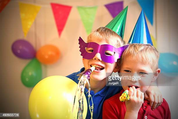 Children Celebrating a Birthday Party at Home