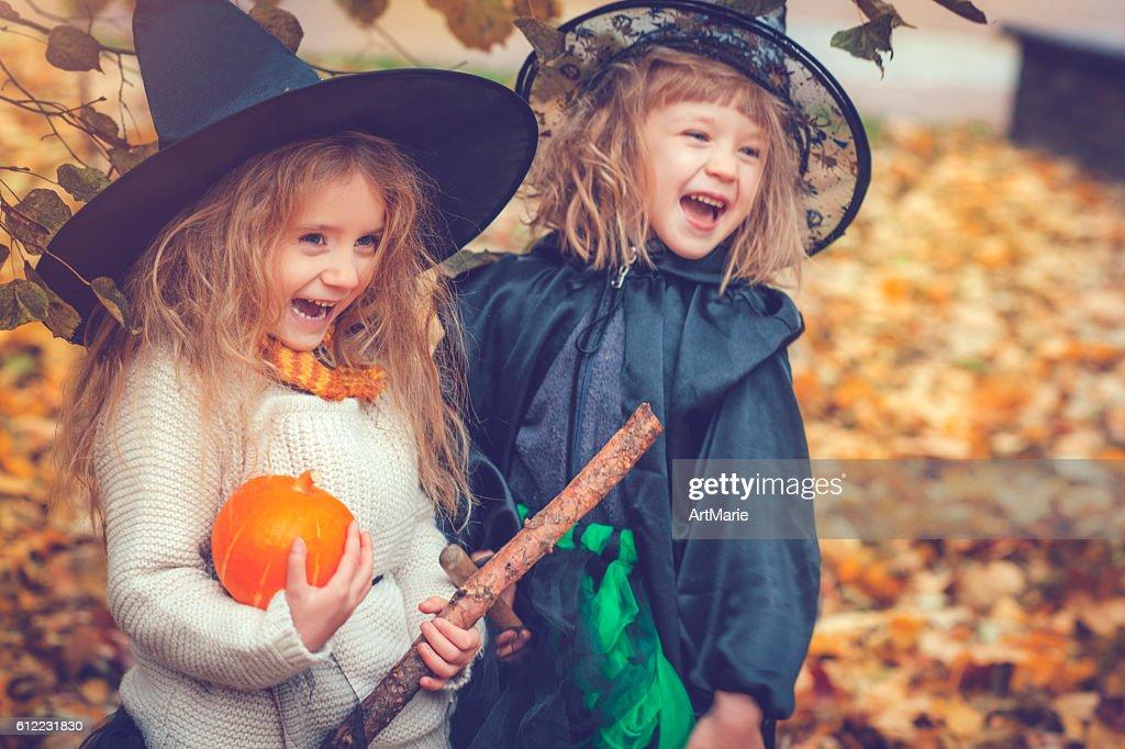 Children celebrating Halloween : Stock Photo