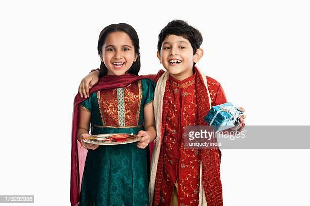 Children celebrating Raksha Bhandan