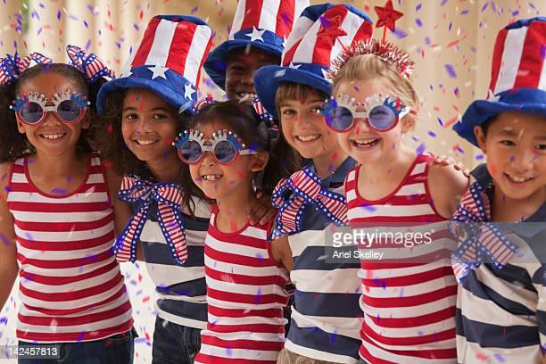 Enfants célébrant la fête du 4 juillet