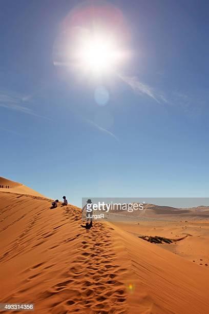 お子様には、クライミング赤い砂丘ソススフレイナンビア