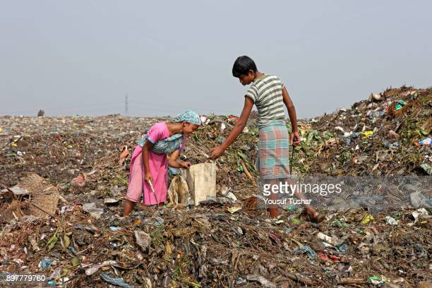 Children collect rubbish for resale At the end of the day they earn TK 50 to 70 The Matuail dump yard is one of the three waste sites of Dhaka a city...