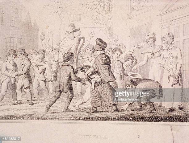 Children collecting pennies for the Guy 1816