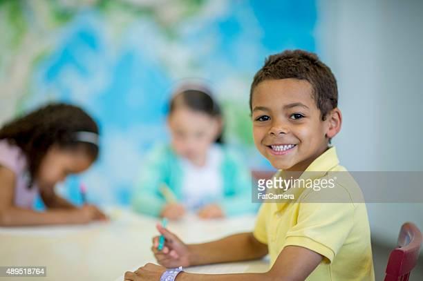 Coloriage pour les enfants de la classe