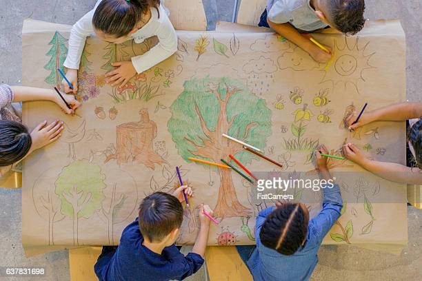 Children Coloring Nature