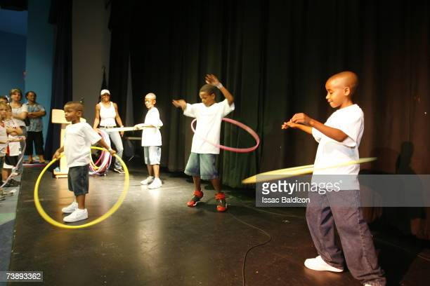 Children compete during the 2007 Family Festival on April 15 2007 at Watson Island in Miami Florida NOTE TO USER User expressly acknowledges and...