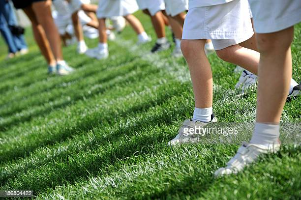 Children competing in a sports day