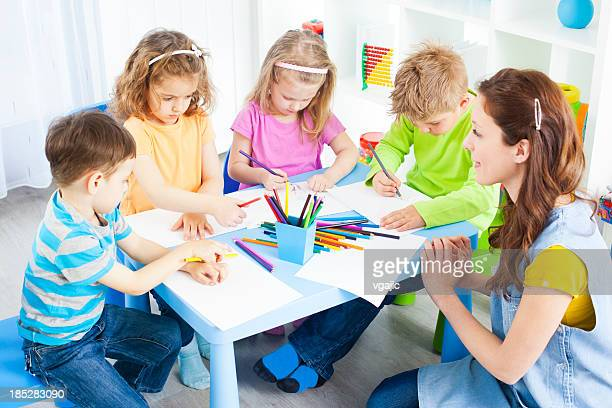 Children Craft Activities Coloring and Drawing.