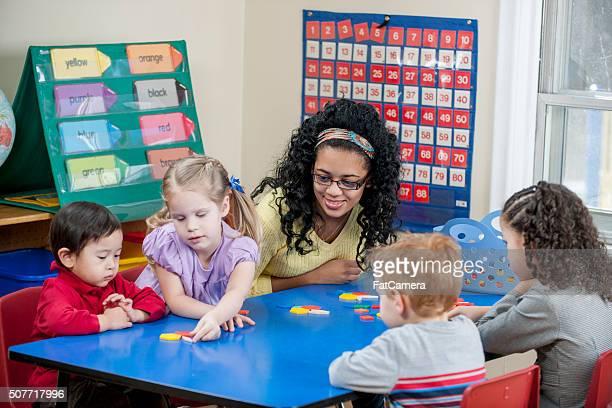 Children Creating Shapes