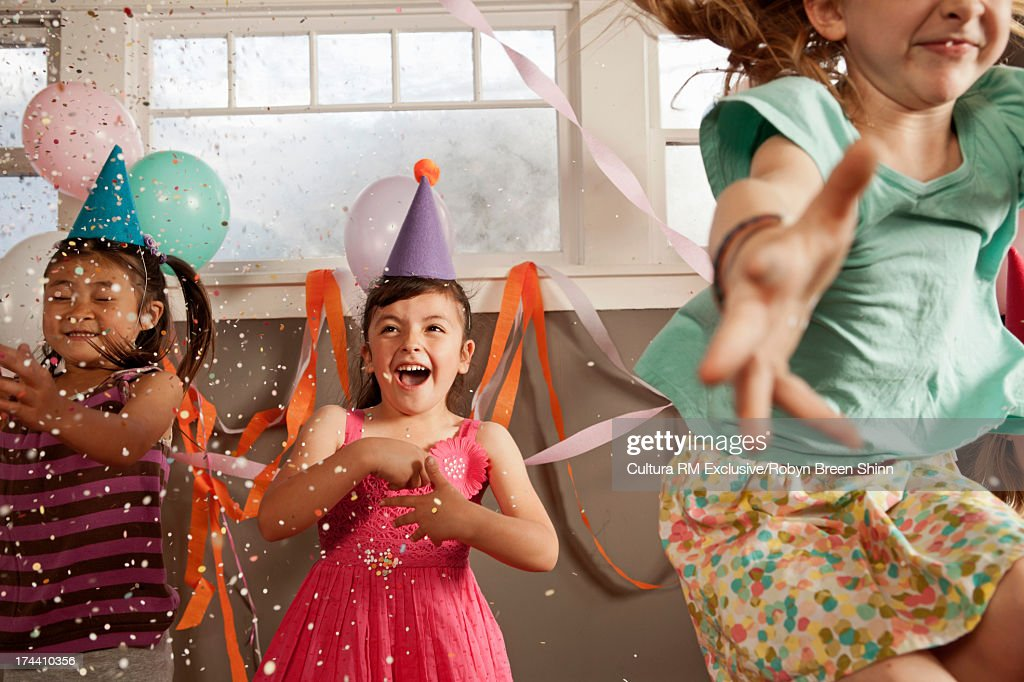 Children dancing at party : Foto stock