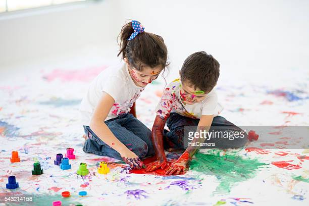 Children Doing Art Therapy