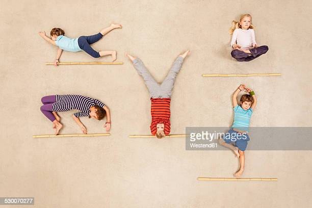 Children doing gymnastics