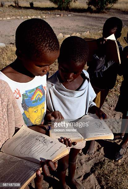 Children Doing Homework in Zimbabwe