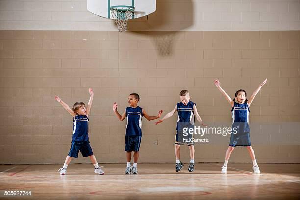 Children Doing Jumping Jacks