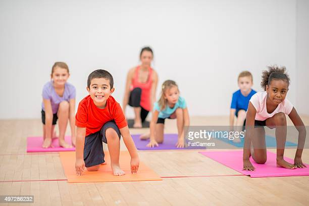 Children Doing Pilates Together