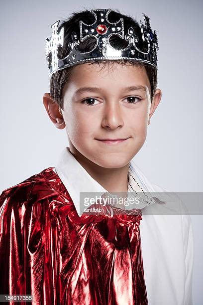 Children dressed as  a King.