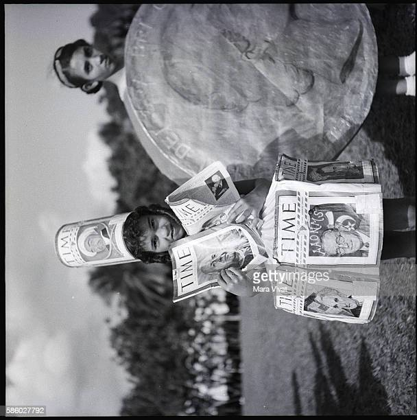 Children Dressed as Dime and Time Magazine Cover