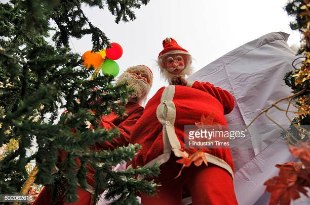Children dressed as Santa Clauss during the Christmas festival procession taken out by Bethel Methodist Church ahead of the Christmas festival on...