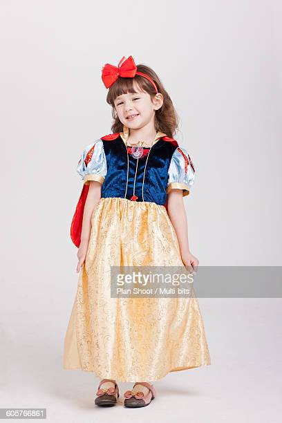 children dressed in snow white clothes - snow white stock photos and pictures