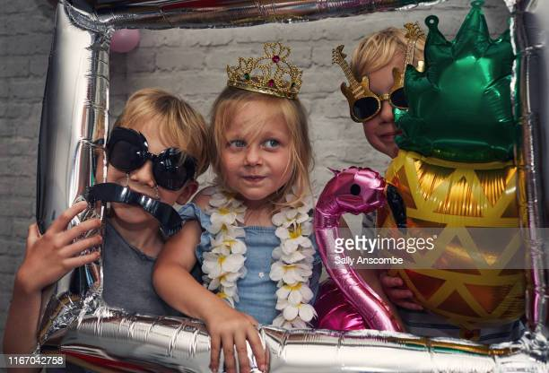 children dressed up in novelty items - childhood stock pictures, royalty-free photos & images