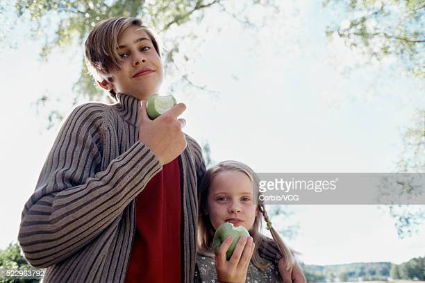 Children Eating Apples