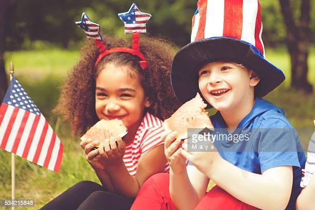 Children enjoy July 4th