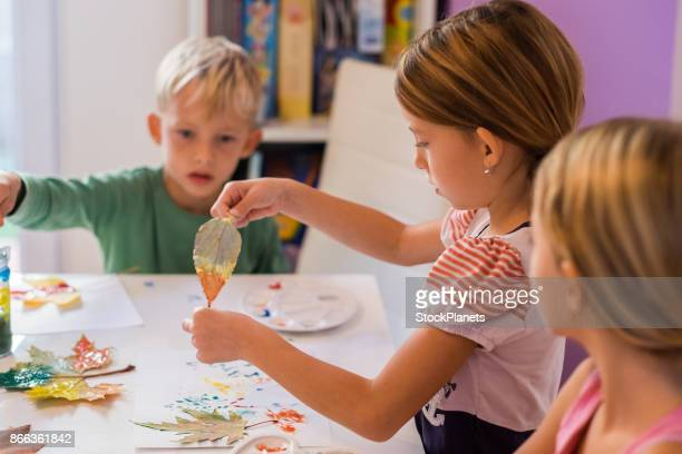 Children enjoy painting