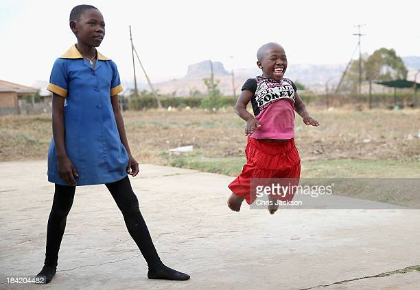 Children enjoy their weekly Friday afternoon dance at Sentebale supported St Angela's Centre for Children with Disabilities on October 11 2013 in...