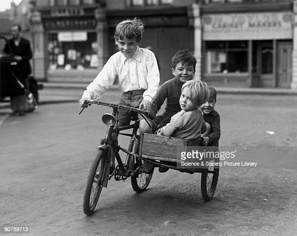 Children enjoying a bike ride