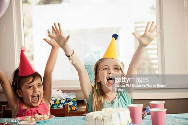 Children excited and having fun at party