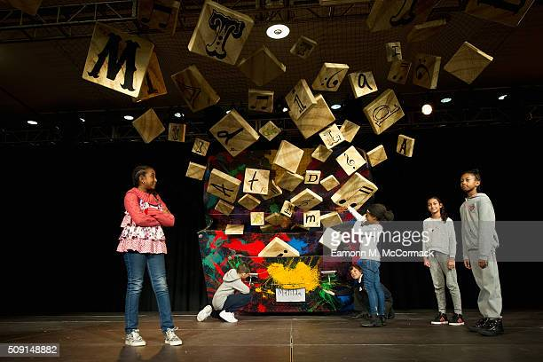 Children explore the 'World of Roald Dahl' as part of Southbank Centre's annual Imagine Children's Festival at Southbank Centre on February 9 2016 in...