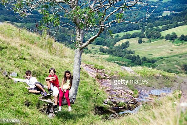 Children exploring Wales