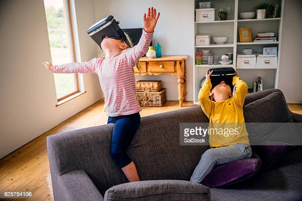 Children Exploring with Virtual Reality Headset