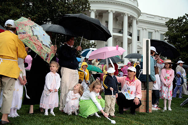 Children Flip Eggs Across The South Lawn Of The White House Pictures