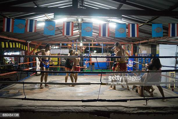 Children from age of 518 attending a Thai boxing school in central Bangkok Thai boxing known as Muay Thai is a traditional and national sport for...