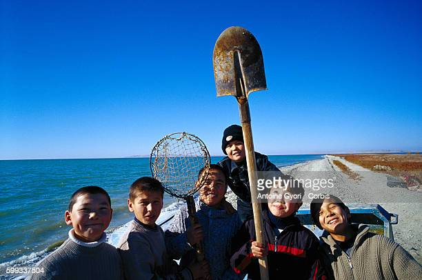 Children from Aralsk discover the Aral sea for the first time The sea had receded and was 70 kilometers away from their native village after years of...