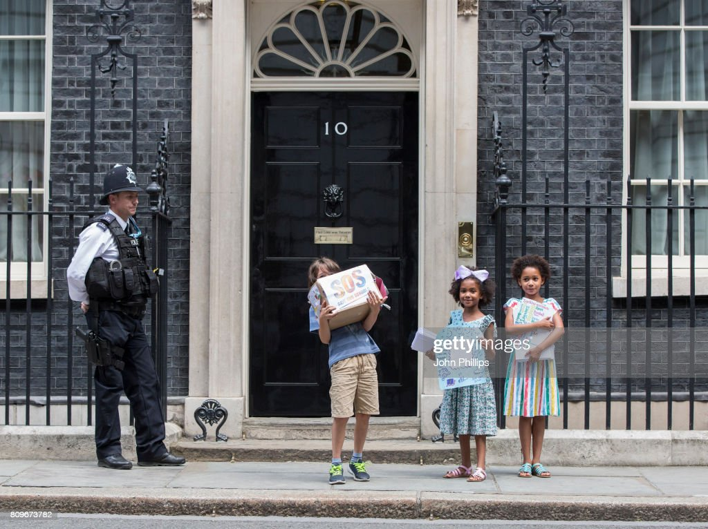 School Funding Protest At Downing Street : News Photo