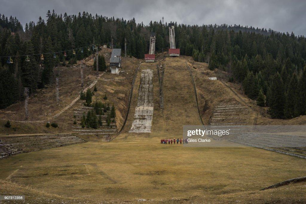 Ski Jumping Hill near Sarajevo. : News Photo