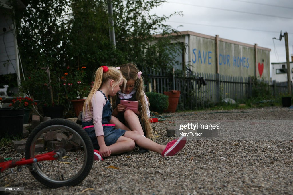 Daily Life In The Dale Farm Travellers Camp : News Photo