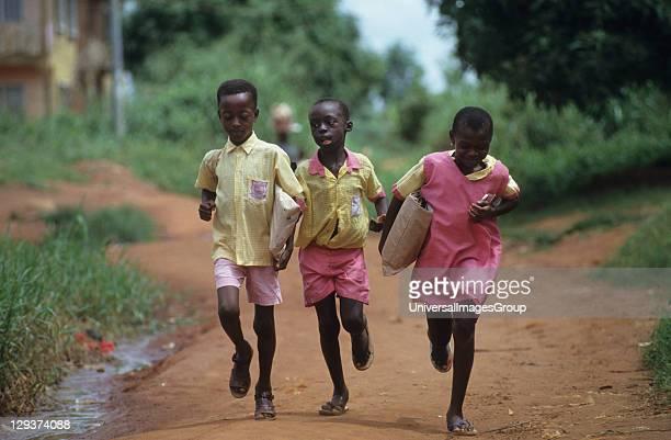 Children Going To School Nigeria Primary School In Benin City