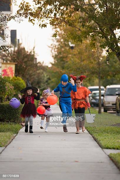 Children going trick or treating
