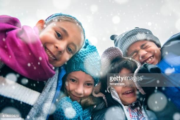 Children Group Hug