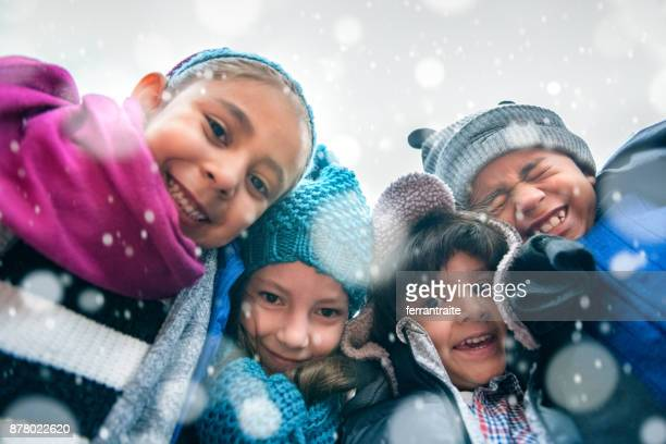children group hug - mexican christmas stock photos and pictures