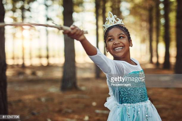 children grow and learn with the power of their imagination - princess stock pictures, royalty-free photos & images