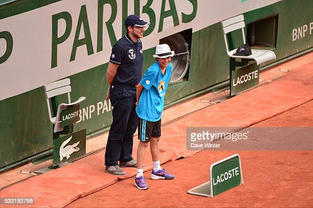 Children having a go as line judges at the Kids' Day during the French Open 2016 on May 21 2016 in Paris France